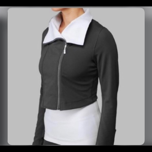 Lululemon principal crop jacket sz 8 grey